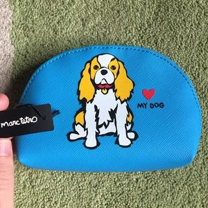 "NWT Marc Tetro ""love my dog"" zippered pouch"